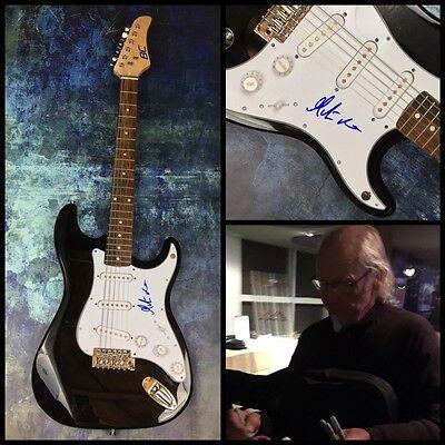 GFA Jethro Tull Guitarist * MARTIN BARRE * Signed Electric Guitar PROOF AD2 COA