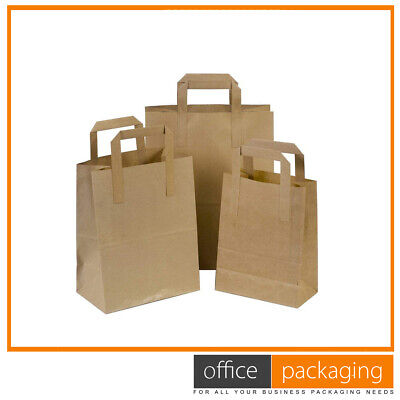 Large Brown Kraft Takeaway Paper Food Carrier Bags 10