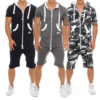 Finchman Herren Sommerjumpsuit kurz Anzug Overall Onesie Jumpsuit Camouflage Herren Overall