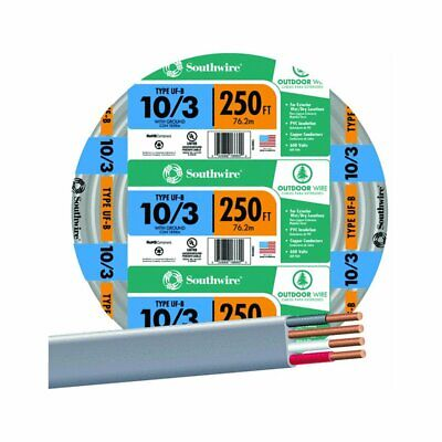 Southwire 250 10-3 Uf Electrical Wire By The Roll 13059155 250 Feet