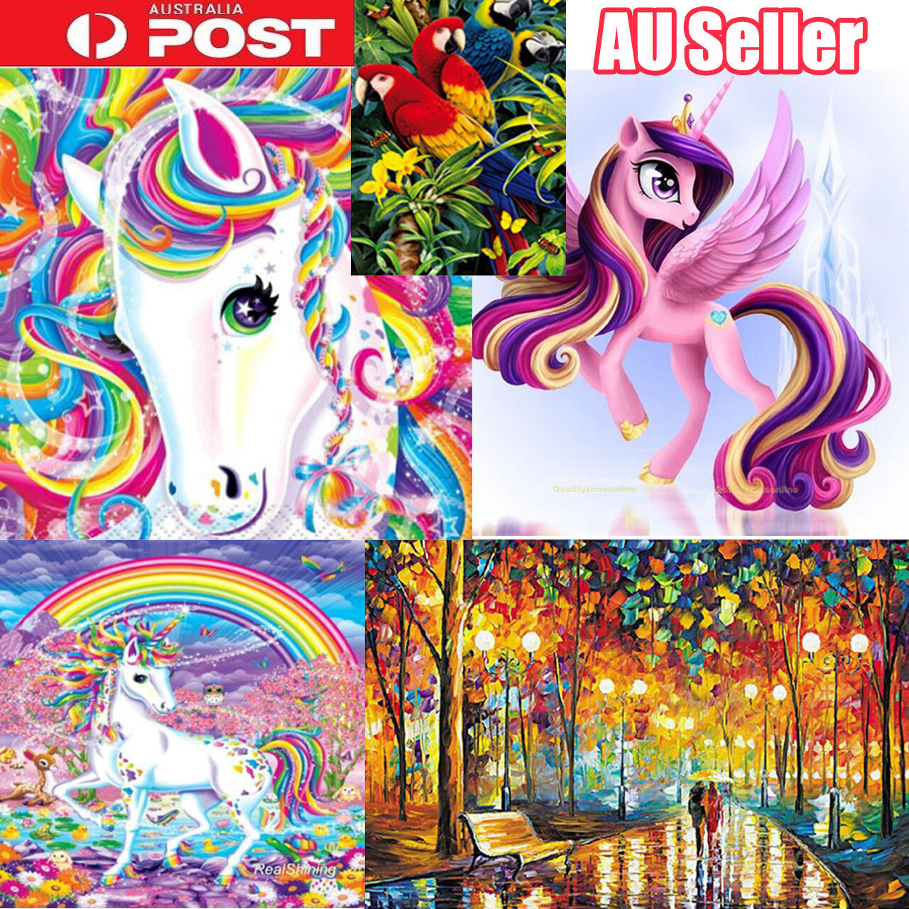 5D Full Diamond Embroidery Painting Cross Stitch Kit DIY Home Wall Decor Art