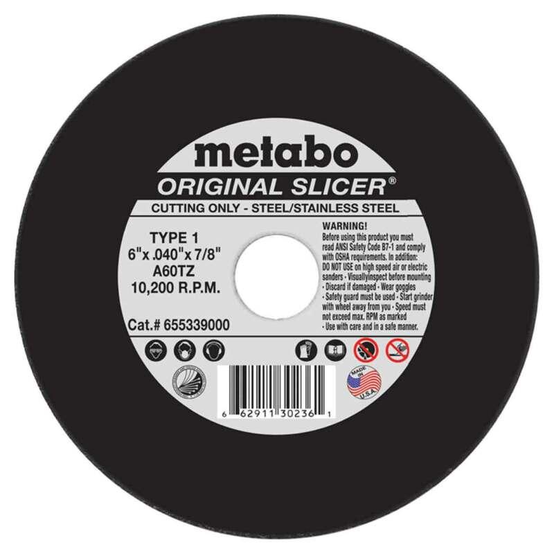 """Metabo 655339000 6"""" x .040 x 7/8 Original Slicer A60TZ, 50 pack"""