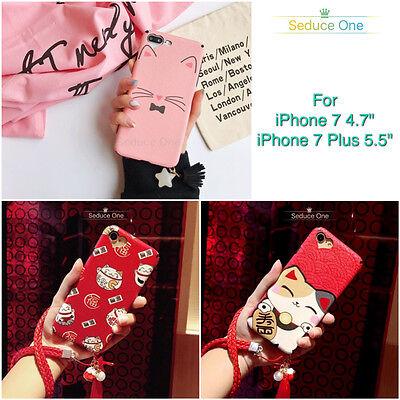 Iphone 7 8   7 8 Plus Cute Kitty Cartoon Kawaii Lucky Cat Tassel Tpu Soft Case