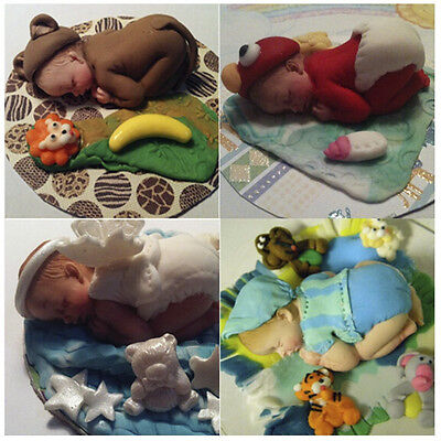 HOT 3D Candy Cupcakes Decorating Silicone Sleeping Baby Shape Cake Mould Fondant