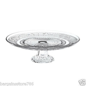 Vintage Glass Cake Stand Wedding Birthday Party Serving Retro Pedestal Stylish