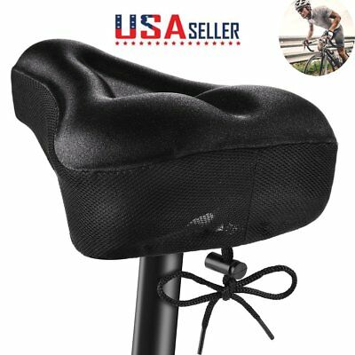 Wide Big Bum Bike Bicycle Cushion Soft Gel Cruiser Comfort Saddle Seat &Cover US