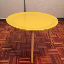 2 funky looking coffee tables in mustard and light blue colours Pyrmont Inner Sydney Preview