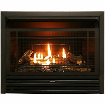 Duluth Forge Recon Dual Fuel Ventless Gas Fireplace Insert, Remote  FDF300R-R