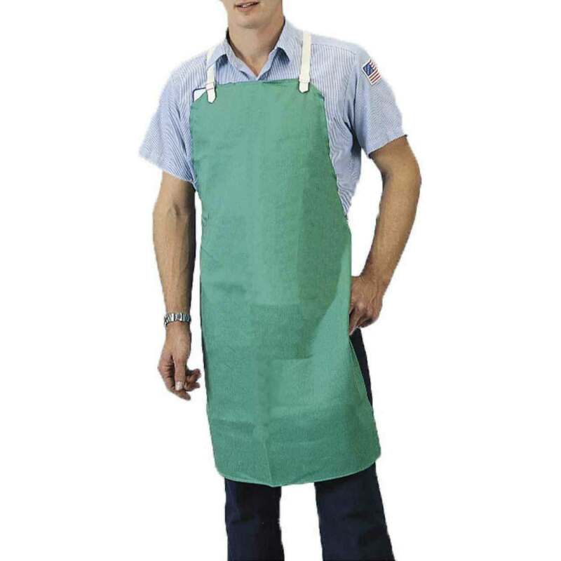 "Tillman 6236 24""X36"" 9 oz. Green Flame Resistant Cotton Bib Apron"