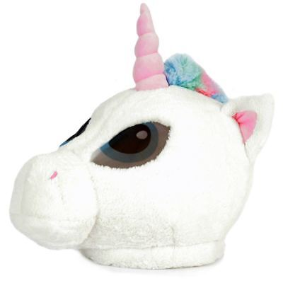 Unicorn Head Mask Soft Plush Animal Oversized Costume Halloween Party Adult (Teen Halloween Party)
