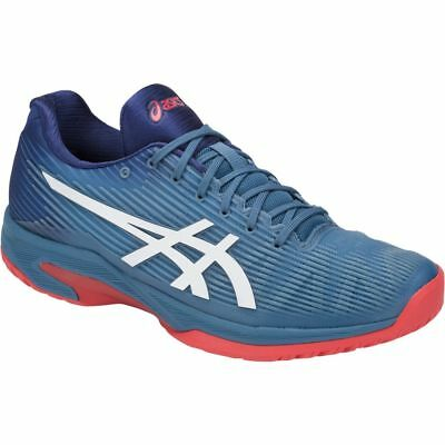 031c70924e6f8 ASICS Solution Speed FF Tennis Shoe Sneakers Blue Red Men s Size  10 NEW!