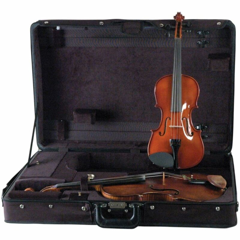 Guardian CV-032-V Double Violin and Viola Suspension Case, Black