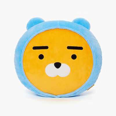 KAKAO FRIENDS Character Face Plush Cushion Pillow HOODIE RYAN Official Goods
