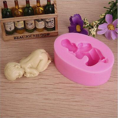 Fondant Sugar - Silicone 3D DIY Mold Sugar Fondant Cupcakes Baby Birthday Cake Make Mould Apply