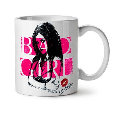 exy NEW White Tea Coffee Mug 11 oz   Wellcoda (Hot Kiss Girl)