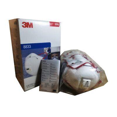 10x 3M 8833 FFP3 R D Wiederverwendbar m.Ventil Atemschutzmaske Mundschutz Maske