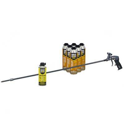 Great Stuff Wall Floor Adhesive 6 26.5 Oz Cans 40 In Foam Gun Cleaner