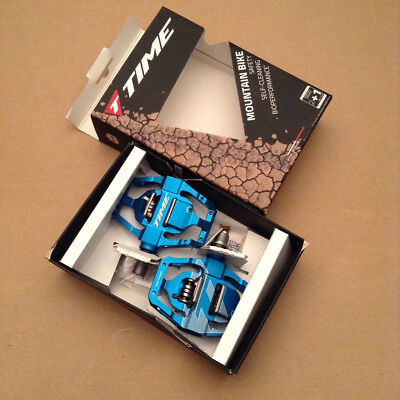 b4f8aba90 Time ATAC Speciale 12 Mountain bike pedals Blue with Cleats New