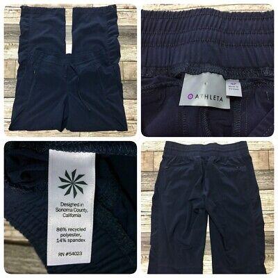 Athleta Windbreaker Athletic Pants Women's 4P (Inseam 28) Navy Blue Zip Pockets