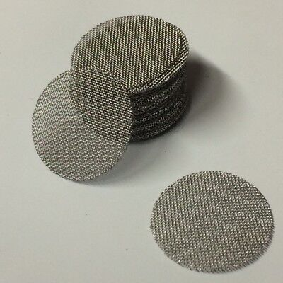 50 Count - Stainless Steel T304 Wire Mesh Filter Discs 12 Made In Usa