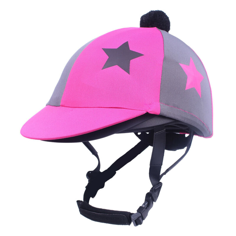 QHP Vegas Helmet Cover - Paradise pink & grey QHP