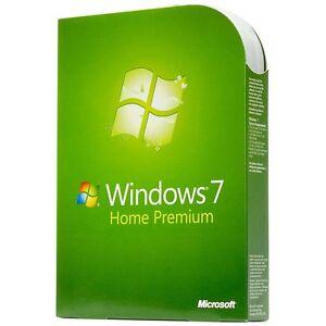 Microsoft windows 7 home premium 32 & 64 bit with  DVD FULL Version
