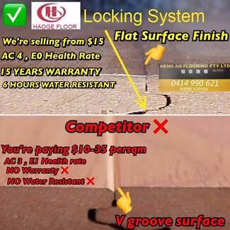 AC4 LAMINATE FLOORING EXCELLENT IMPACT RESISTANCE $14.99 SALE