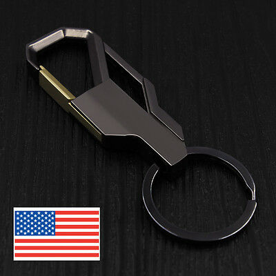 Mens Creative Alloy Metal Keyfob Car Keyring Keychain Key Chain Ring - USA -