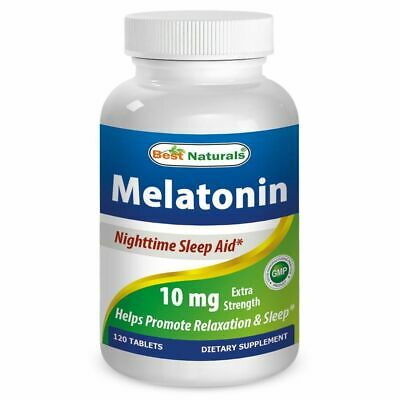 NEW Best Naturals Melatonin 10mg 120 Tablets, Natural Sleeptime Aid