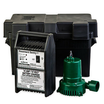 - Zoeller 507-0005 Basement Sentry 12 Volt DC Backup Sump Pump - Model 507