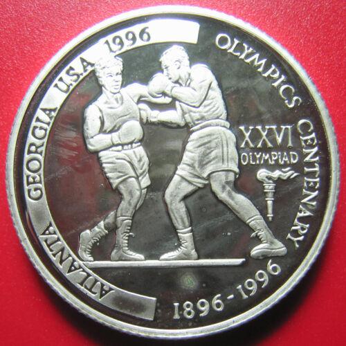 1996 TANZANIA 2000 SHILINGI PIEDFORT 47gr SILVER PROOF BOXING PIEFORT ERROR COIN