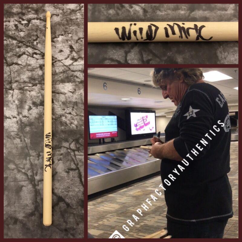 GFA Dokken Drummer * WILD MICK BROWN * Signed Autograph New Drumstick AD3 COA