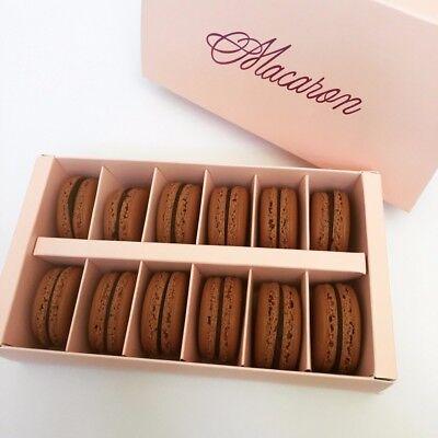 New 12 Sets of Pink Hollow Macaron Gift Box (holding up to 12 Macarons per set) (Macaron Box)