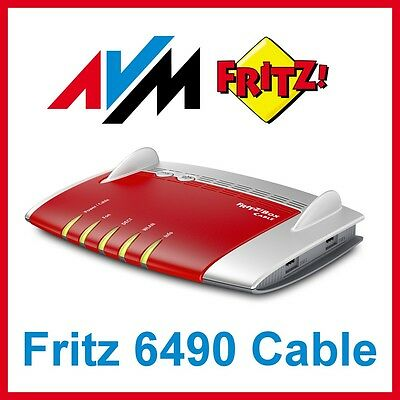 avm fritz box 6490 cable wlan router kabel homebox b ware. Black Bedroom Furniture Sets. Home Design Ideas