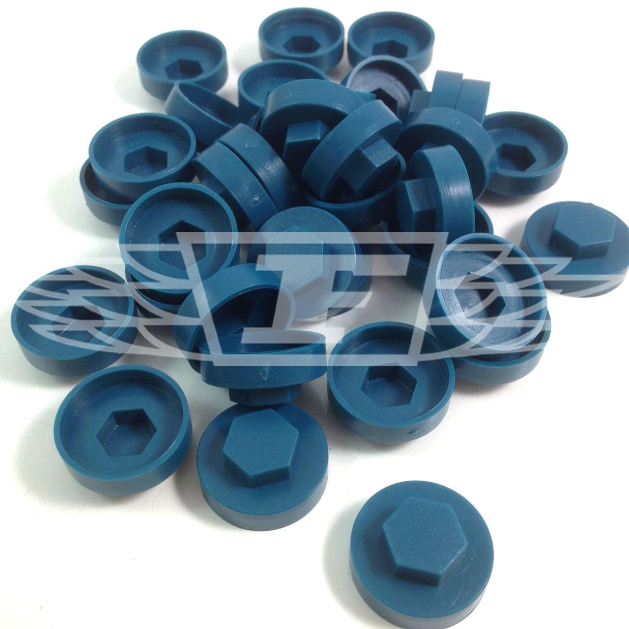 """AL9 16mm ocean blue hexagonal tek couverture Caps à vis pour s/' adapter 8mm 5//16 /""""TEK vis"""