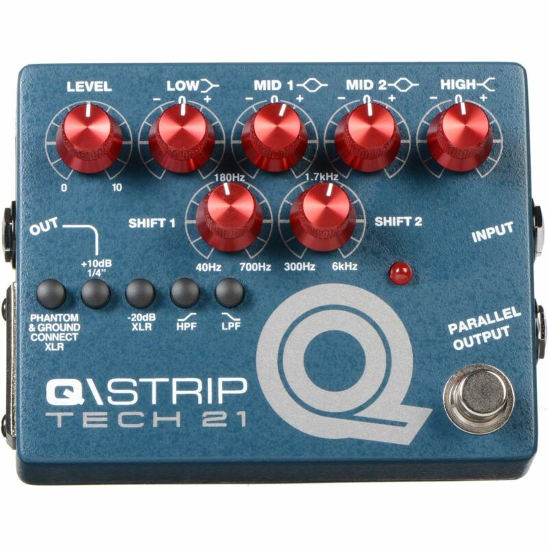 Tech 21 QSTRIP Dual Parametric EQ Instrument DI Pedal, QST-R