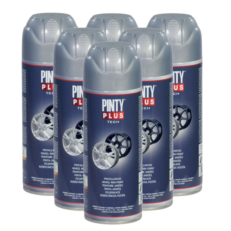 Wheel Rim Silver Spray Paint, Free From Chrome & Lead Components, Pintyplus Tech
