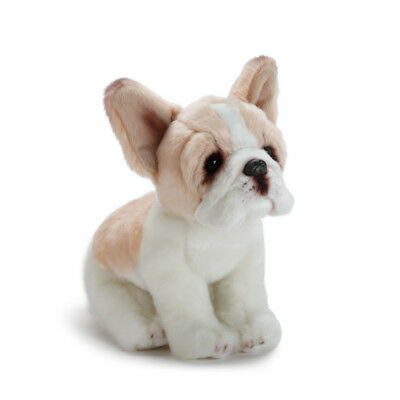 DEMDACO Sitting Small French Bulldog Light Brown, White Plush Stuffed Animal ()