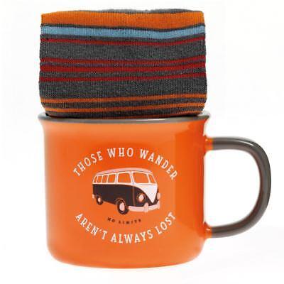 Aroma Home Camper Van Sox In A Mug Socks Ceramic Cup Mug Set For Men Gift Idea