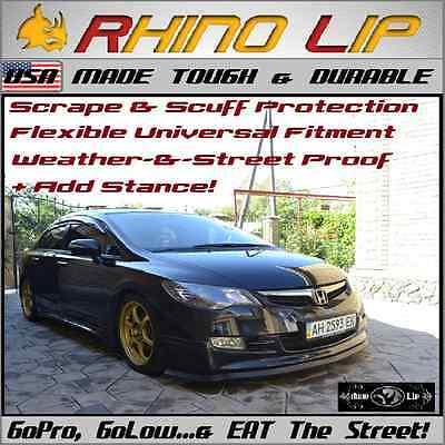 Honda R Si Front Chin Edge RhinoLip Rubber Chin Lip Spoiler Splitter Trim