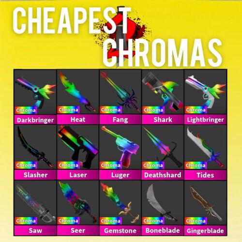 MM2 Roblox ALL CHROMAS - FAST AND CHEAP (Read Description)