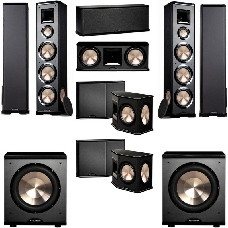 Bic Acoustech Pl-980 7.2 Home Theater System Pl-200ii Sub
