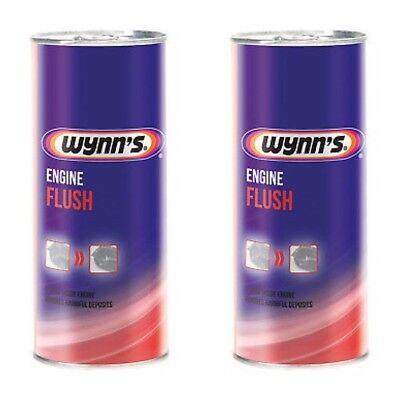 2 X Wynns Engine Flush 425ml For Petrol & Diesel Cleans Engines Internally