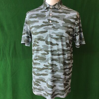 """Mens Puma Dry Cell Pattered Golf Polo Shirt - Medium 40-42"""" Chest"""
