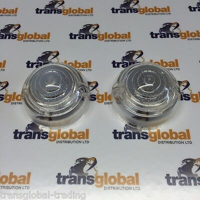 Land Rover Series 2a & 3 Front Side Light Lenses Lens x2 - Bearmach Branded