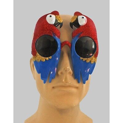 Parrot Glasses Sunglasses Head Parrot Buffet Fan Luau Party Fun Wear CLOSEOUT