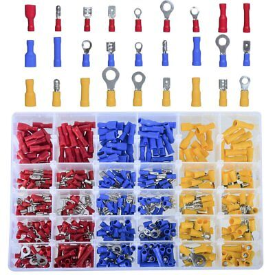 480Pcs Assorted Crimp Terminals Set Insulated Electrical Wiring Connector Kit #1