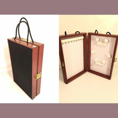 Showcases To Go Folding Travel Jewelry Storage Display Hang Case White Interior