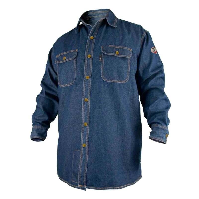 Black Stallion FS8-DNM FR Cotton Denim Long Sleeve Work Shirt X-Large
