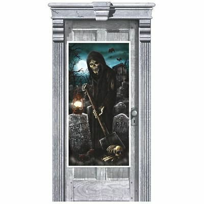 Cemetery Plastic Door Poster Halloween Party - Cemetery Halloween Party